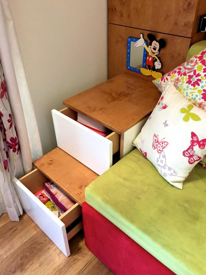Oak Brown Wooden Cabinets in kids BEdroom by Viraf Laskari  Bedroom Contemporary | Interior Design Photos & Ideas
