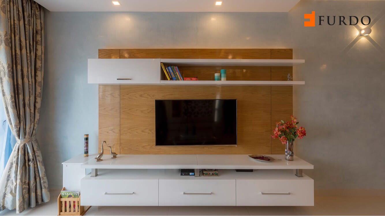 Wooden display unit by Furdo.com Living-room Modern | Interior Design Photos & Ideas