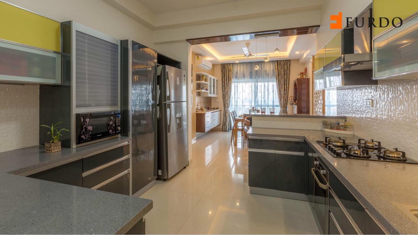 Parallel Kitchen With Modular Cabinets by Furdo.com Modular-kitchen Modern | Interior Design Photos & Ideas