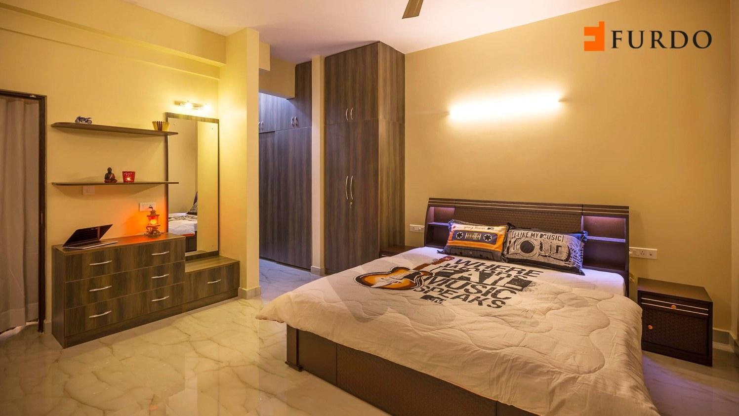 Bedroom With Marble Flooring by Furdo.com Bedroom Contemporary | Interior Design Photos & Ideas