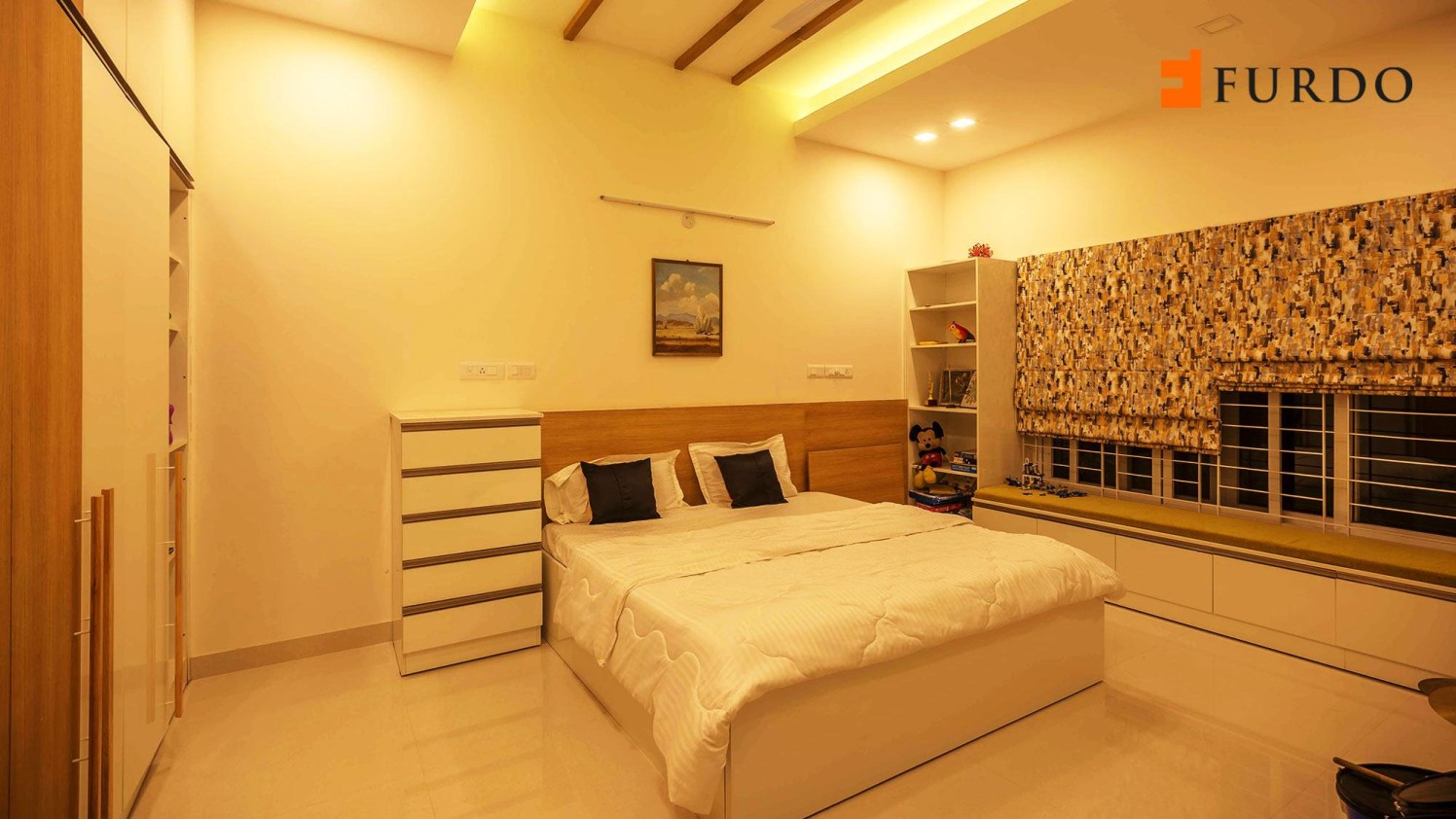 Bedroom With Pale Shade Interiors by Furdo.com Bedroom Modern | Interior Design Photos & Ideas