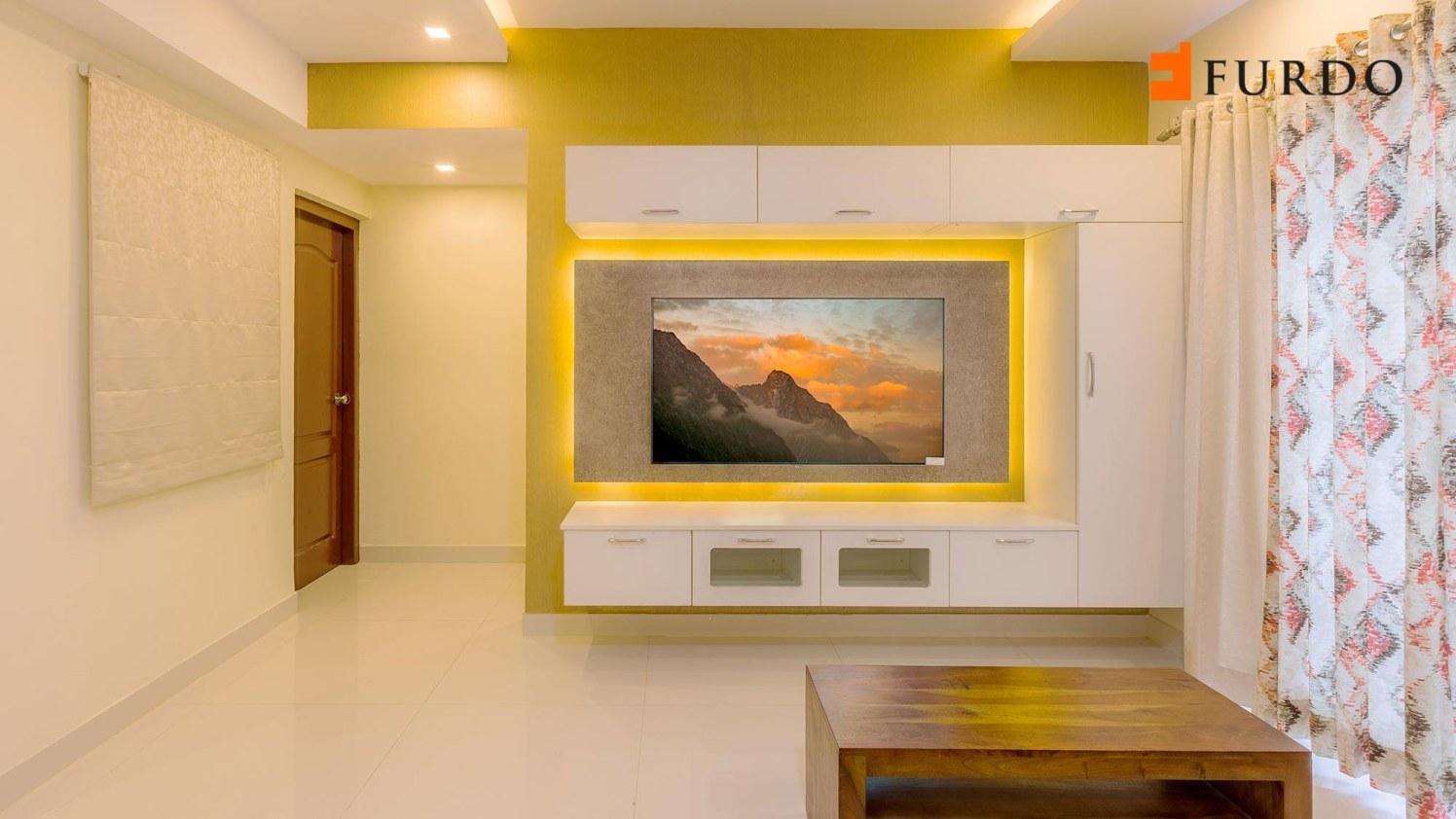 Living Room With White TV-Unit by Furdo.com Living-room Modern | Interior Design Photos & Ideas