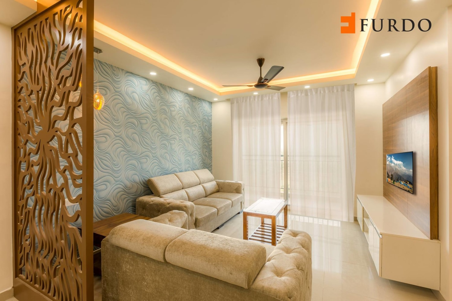 Living Room With Classic Contemporary Decor by Furdo.com Living-room Contemporary | Interior Design Photos & Ideas