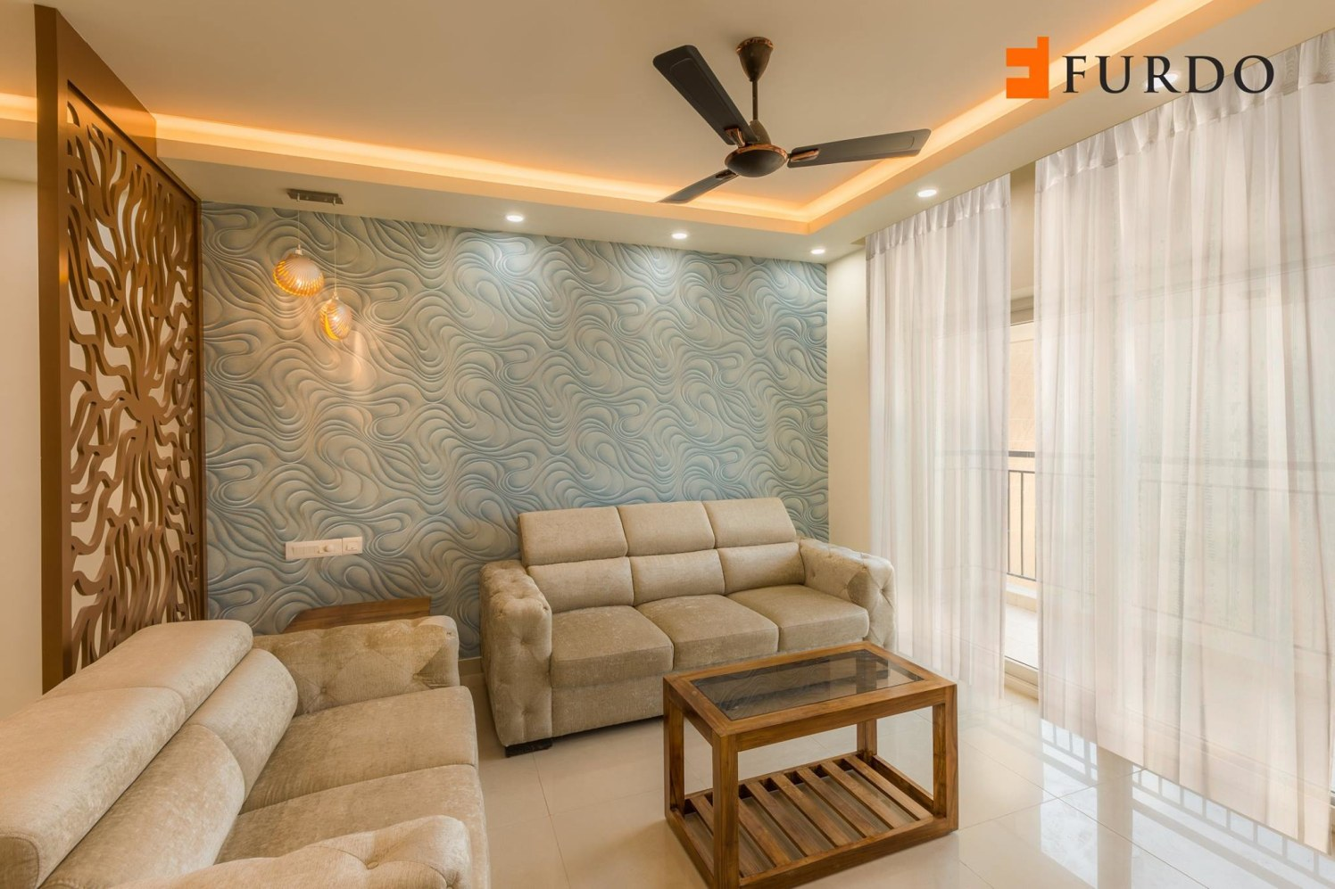 Living Room With Amazing Wall Art by Furdo.com Living-room Contemporary   Interior Design Photos & Ideas