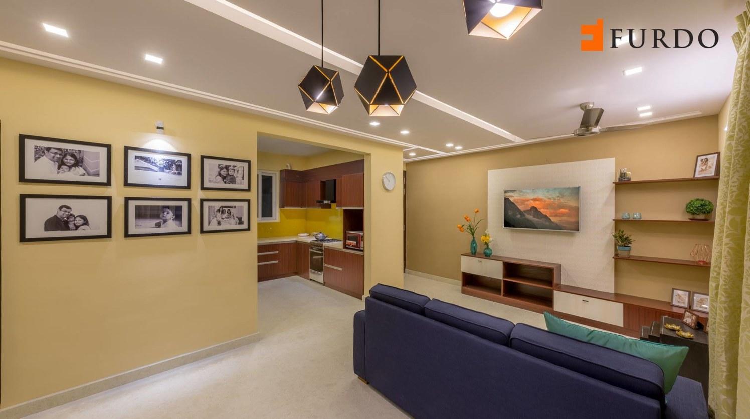 Living Room With Marble Flooring by Furdo.com Living-room Contemporary | Interior Design Photos & Ideas