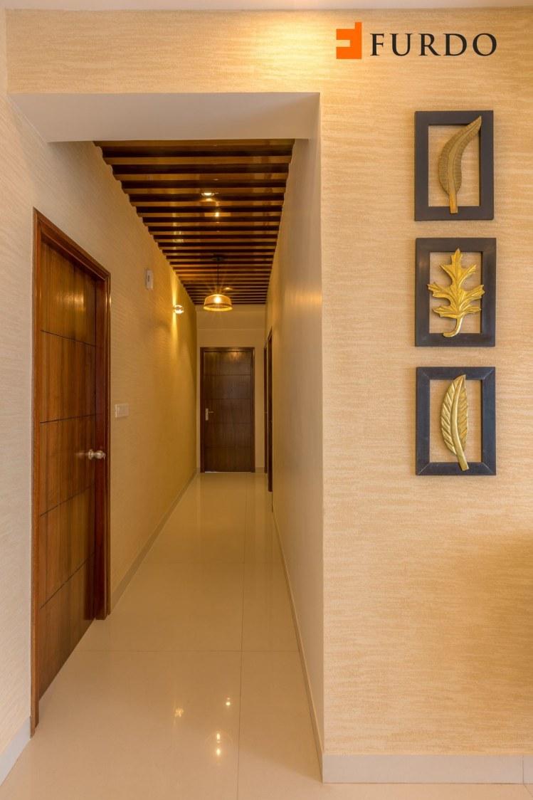 Hallway With Marble Flooring by Furdo.com Indoor-spaces Modern | Interior Design Photos & Ideas
