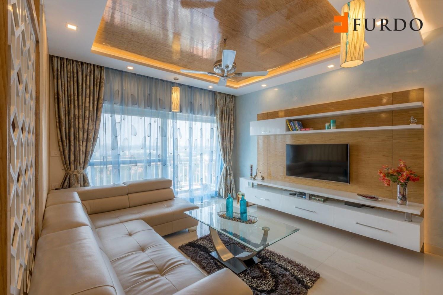 Living Room WIth Bulky Furniture by Furdo.com Living-room Contemporary | Interior Design Photos & Ideas