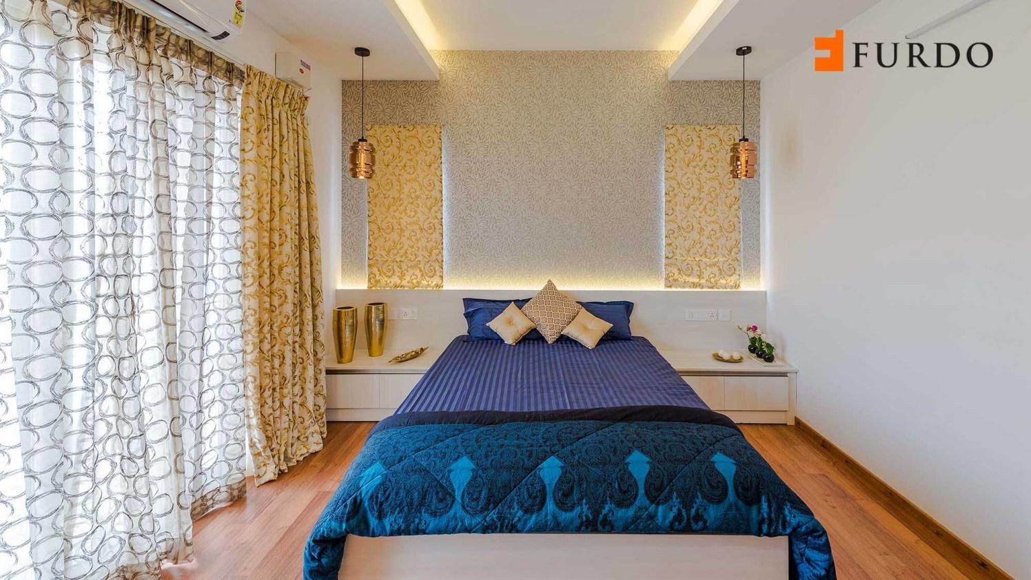 Bedroom With Wall Art And Wooden Flooring by Furdo.com Bedroom Contemporary | Interior Design Photos & Ideas