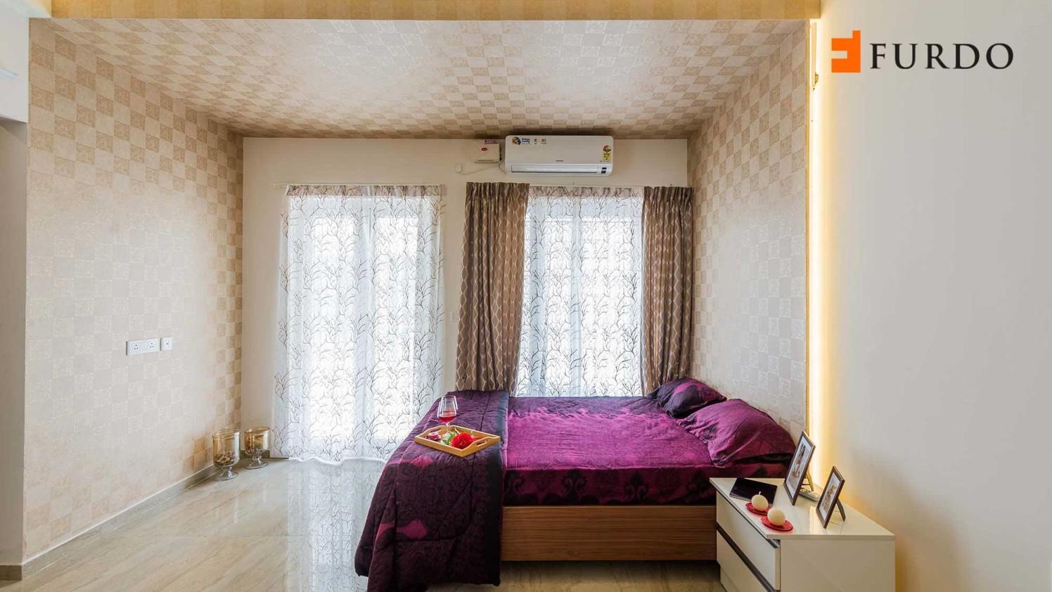Bedroom With Artistic Wall Lighting by Furdo.com Bedroom Contemporary | Interior Design Photos & Ideas