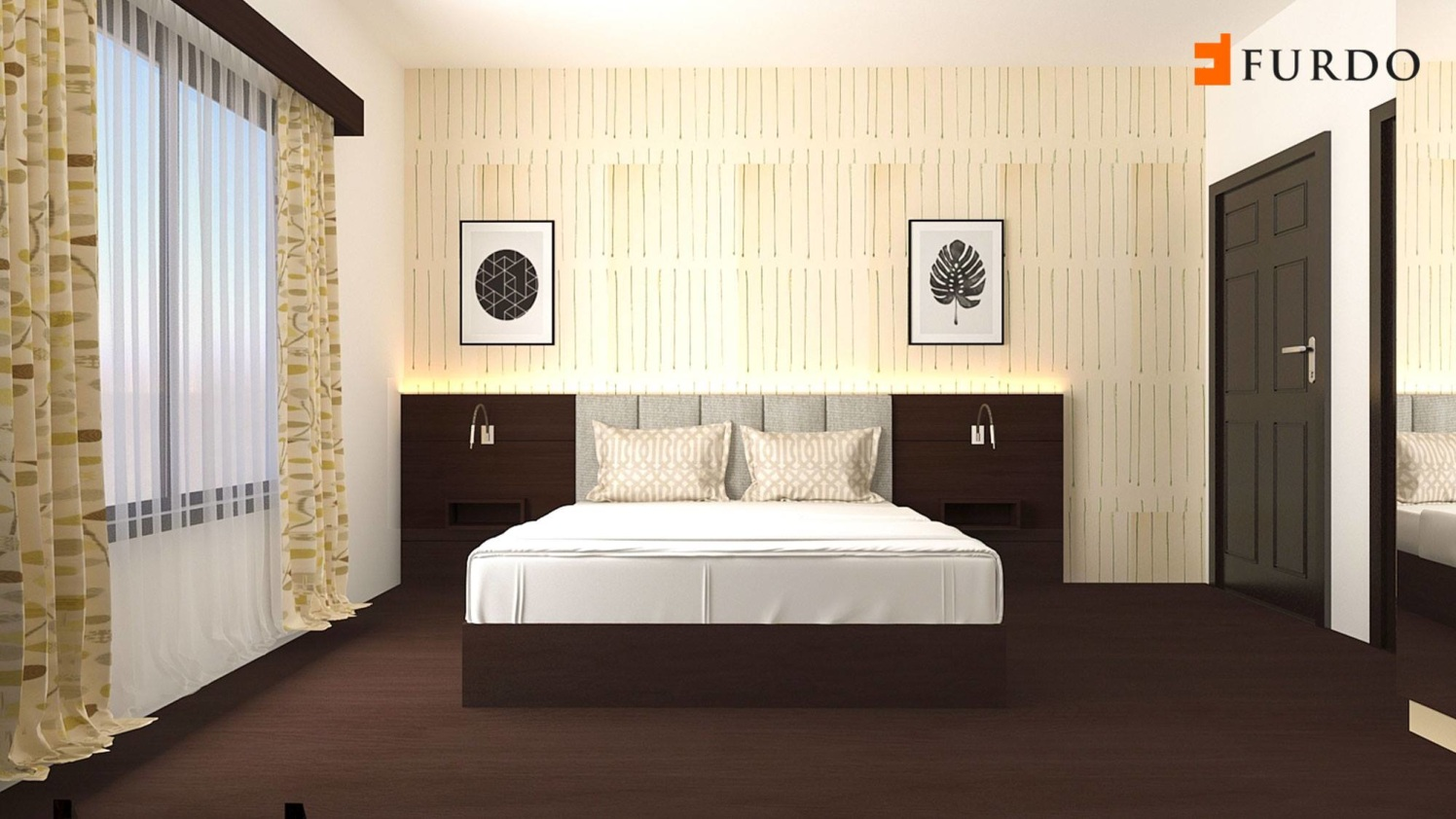 3D-Design Of Bedroom by Furdo.com Bedroom Modern | Interior Design Photos & Ideas