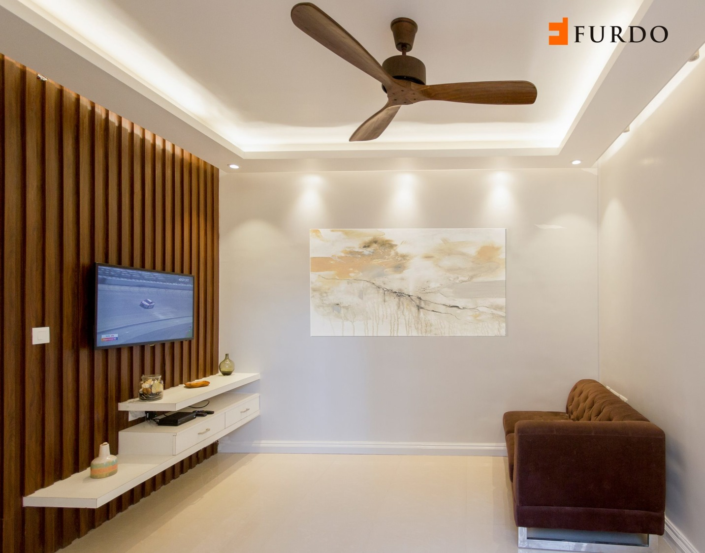 Living Room With Wooden Furnishing by Furdo.com Living-room Minimalistic | Interior Design Photos & Ideas