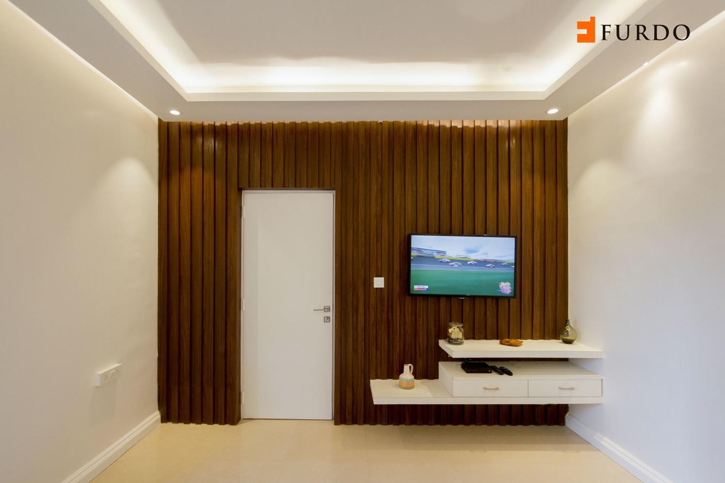 Living Room With Wooden Wall Art by Furdo.com Living-room Minimalistic | Interior Design Photos & Ideas