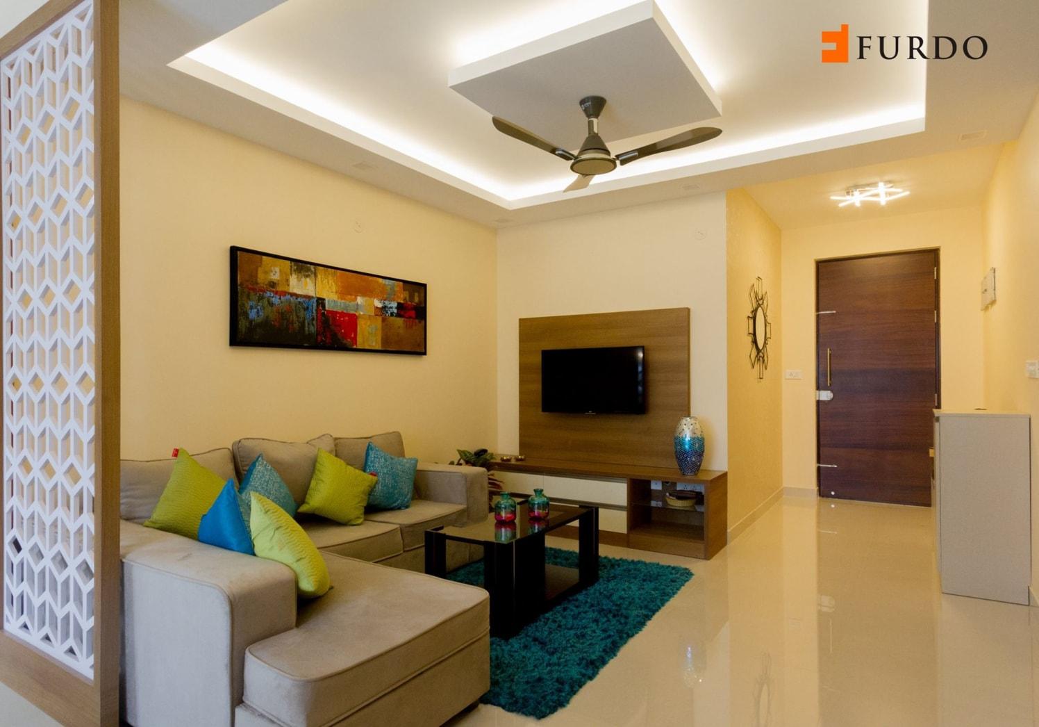 The Living Room With L-Shaped Sofa by Furdo.com Living-room Contemporary | Interior Design Photos & Ideas