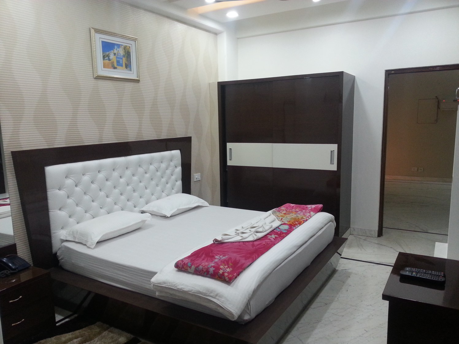 Classic Bed with Sliding Cupboard by Excel Constructions
