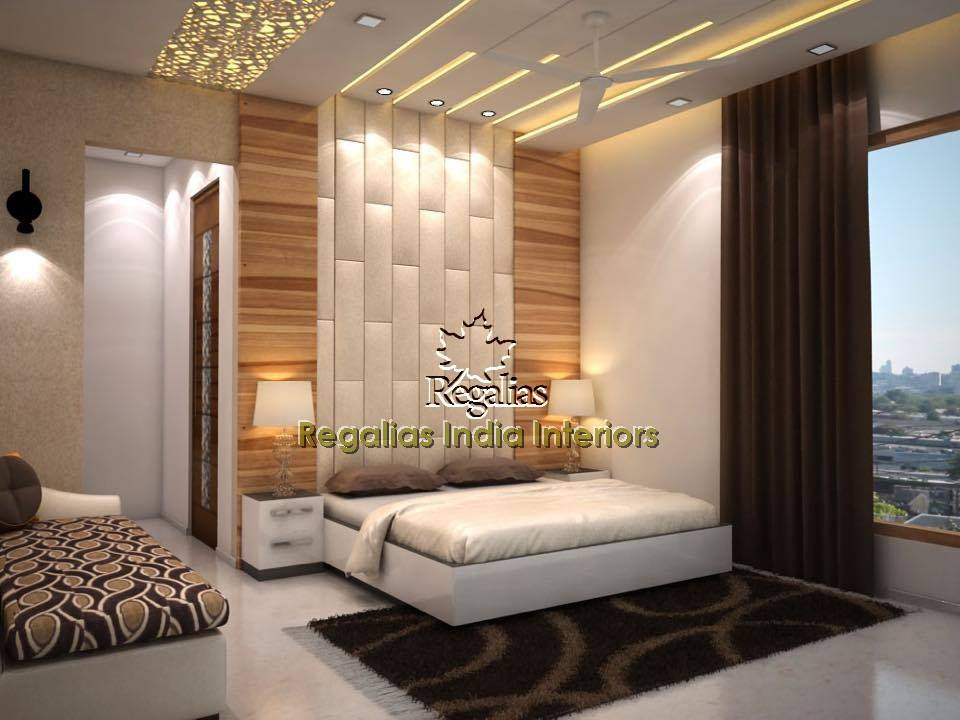 Off White Wooden Background Contemporary Master Bedroom by Regalias Interiors Bedroom Modern | Interior Design Photos & Ideas