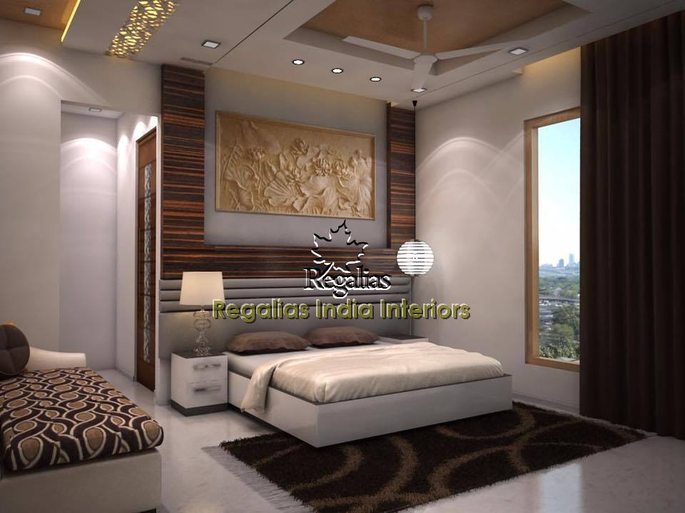 Amazing Painting And Modern Furniture In Bedroom by Regalias Interiors Bedroom Contemporary | Interior Design Photos & Ideas