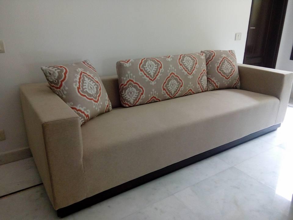Mocha Shade Sofa by Infurn Designs Living-room Modern | Interior Design Photos & Ideas