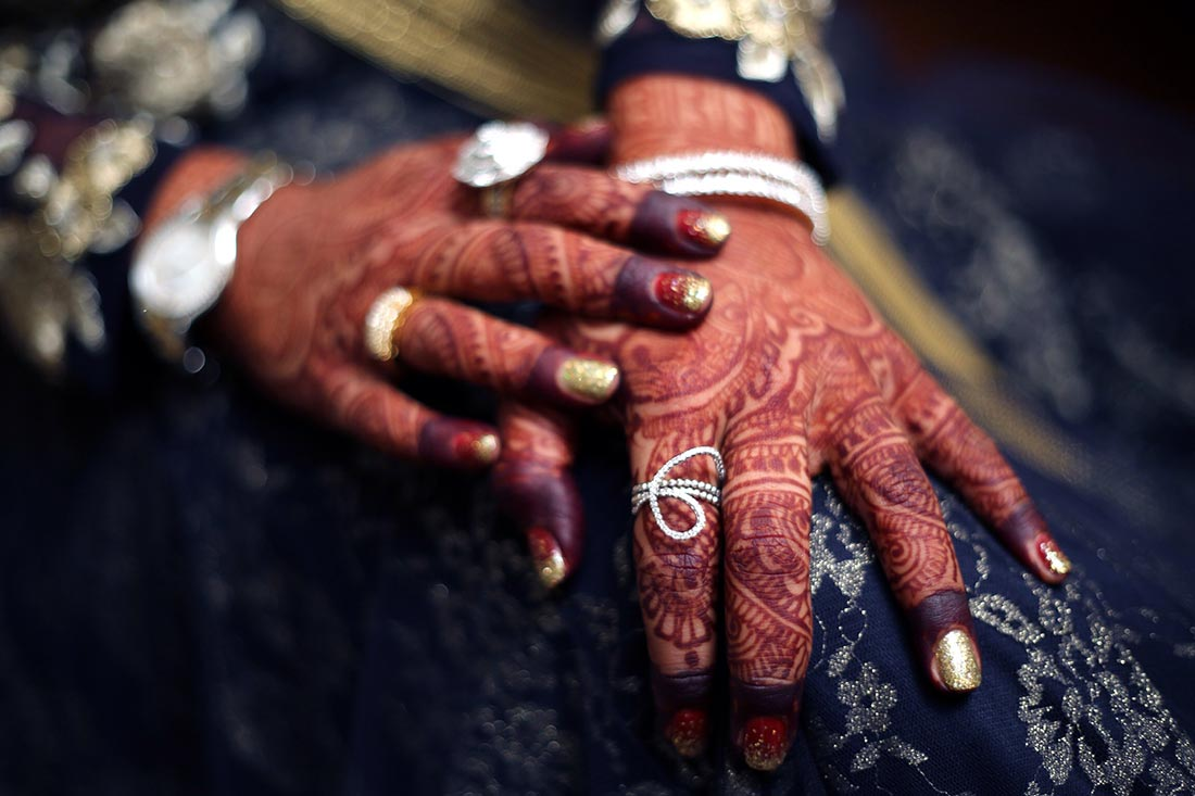 Mehendi hands with diamond ring! by Heena Video Wedding-photography | Weddings Photos & Ideas
