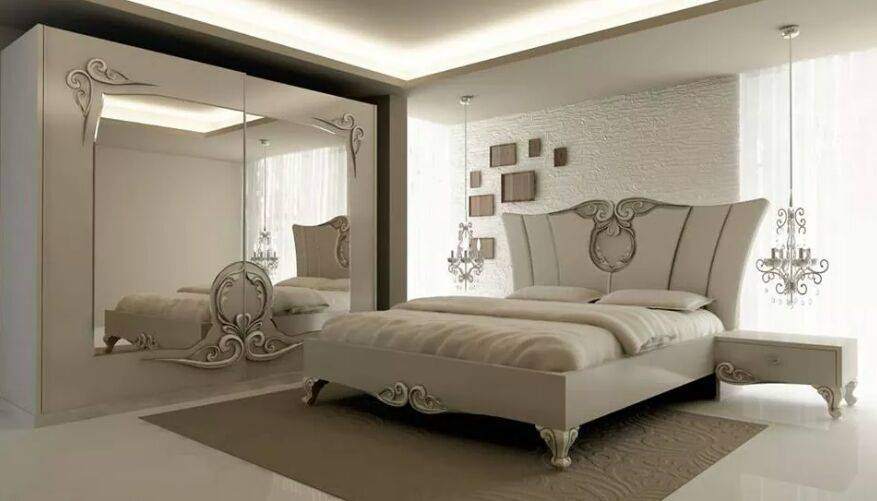 White Themed Bedroom With Traditional  Bed by HOC Designarch Bedroom Vintage | Interior Design Photos & Ideas