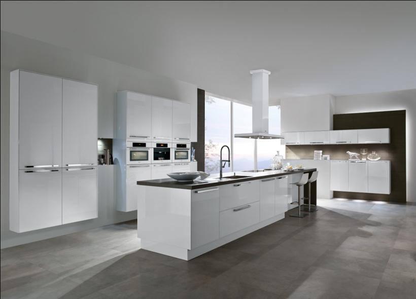 White Three Dimensional Open Island Kitchen by HOC Designarch Modular-kitchen Contemporary | Interior Design Photos & Ideas