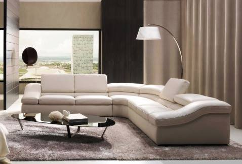 Living Room With White Sectional Sofa And Grey Carpet by HOC Designarch Modern | Interior Design Photos & Ideas