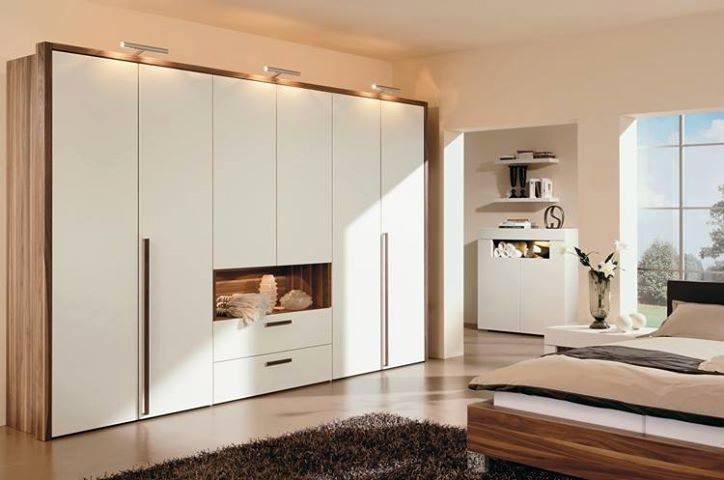 Bedroom With Cream Fitted Wardrobe by HOC Designarch Bedroom Contemporary | Interior Design Photos & Ideas