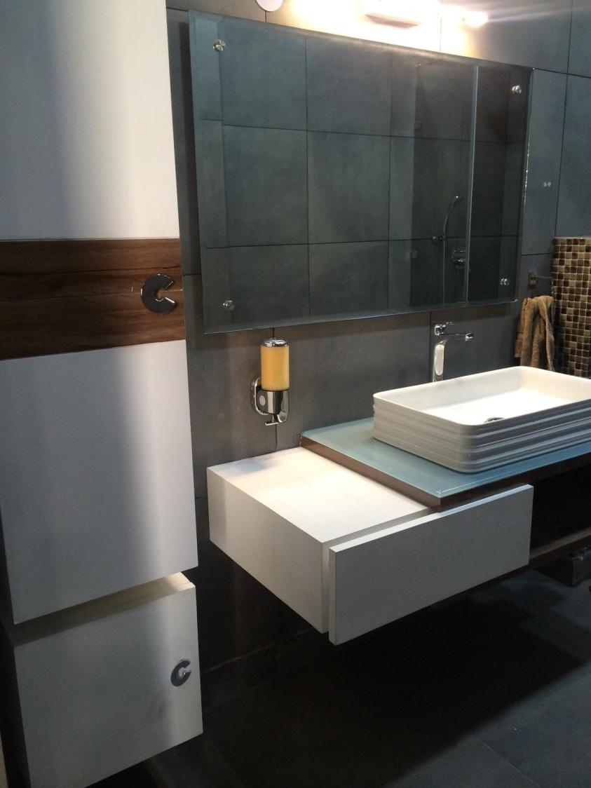 Bathroom With White Cabinets by HOC Designarch Bathroom Modern | Interior Design Photos & Ideas