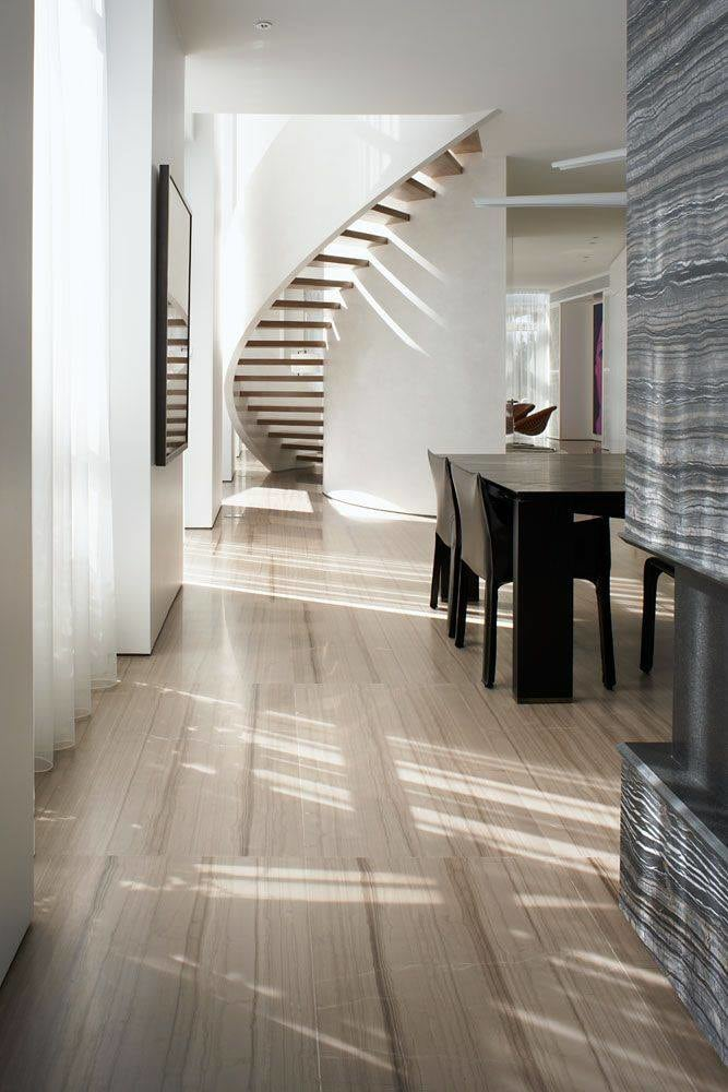 Hallway With Light  Oak Wooden Flooring by HOC Designarch Indoor-spaces Contemporary | Interior Design Photos & Ideas