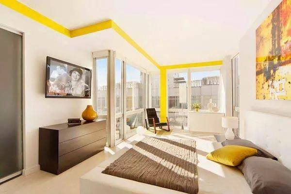 Bedroom With Touch of Yellow by HOC Designarch Bedroom Contemporary | Interior Design Photos & Ideas