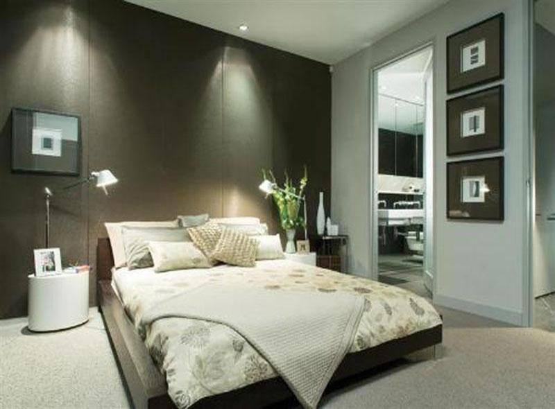 Spacious Bedroom with Low Rise Wooden Bed by HOC Designarch Bedroom Contemporary | Interior Design Photos & Ideas