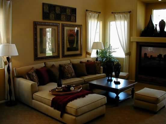 Cream Sectional Sofas With Centre Table by HOC Designarch Living-room Contemporary | Interior Design Photos & Ideas