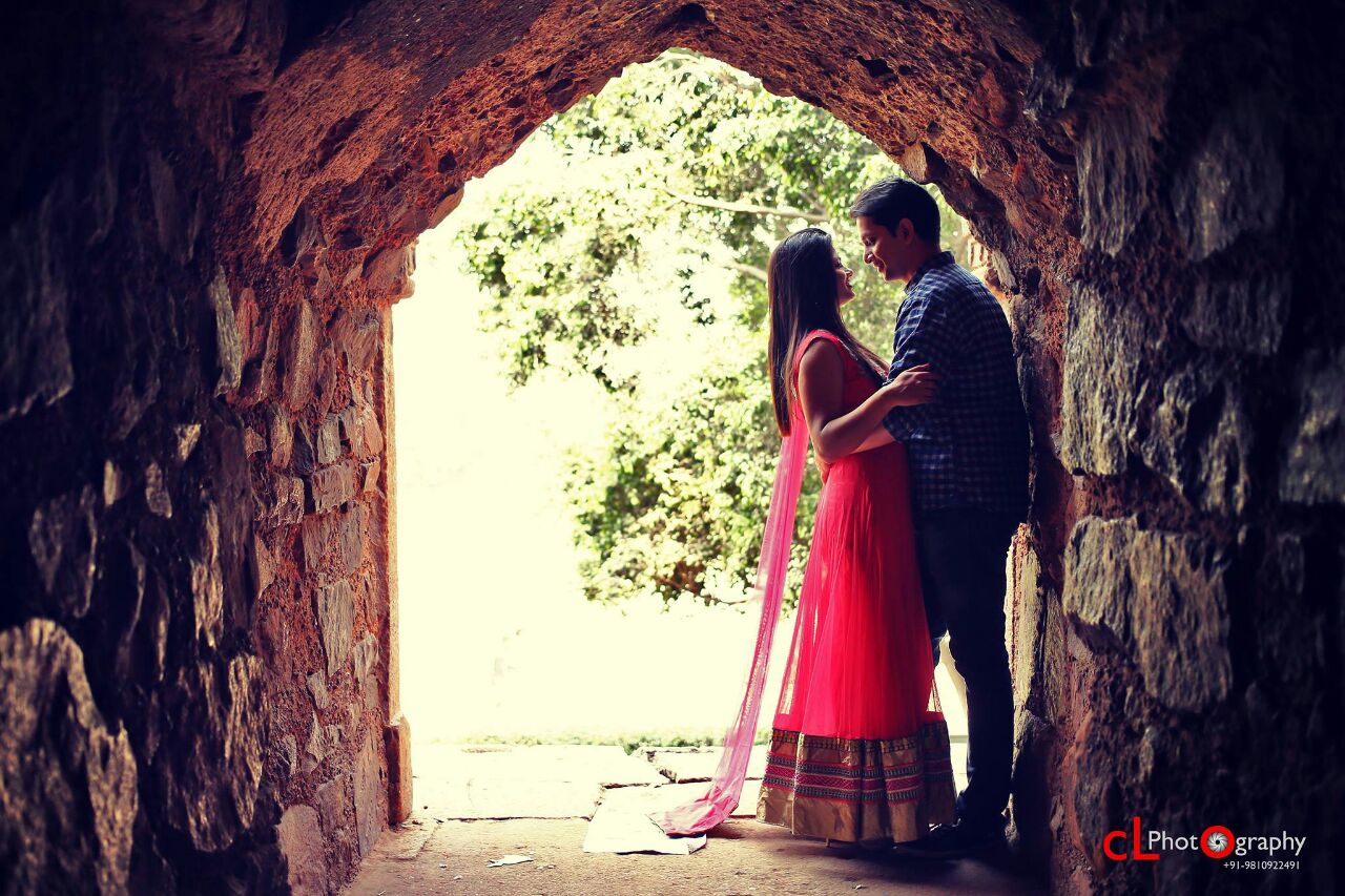 Pre-Wedding Shoot In A Vitrified Brick Structure by CL Media Solutions Wedding-photography | Weddings Photos & Ideas