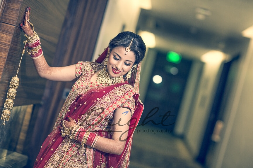 Bride In Crimnson Shades by Gitesh Dhawan Wedding-photography | Weddings Photos & Ideas
