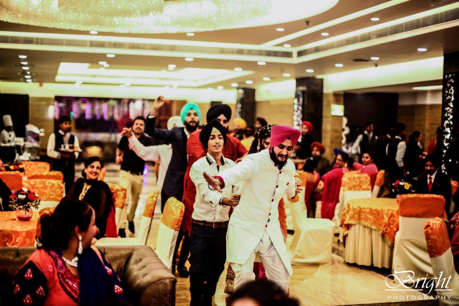 Dancing Shot On Wedding Day by Gitesh Dhawan Wedding-photography | Weddings Photos & Ideas