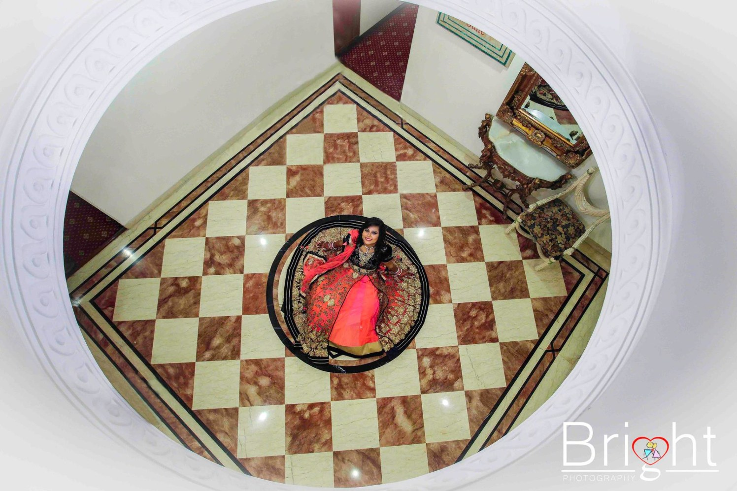 Bride Wearing Orange And Pink Attire by Gitesh Dhawan Wedding-photography | Weddings Photos & Ideas