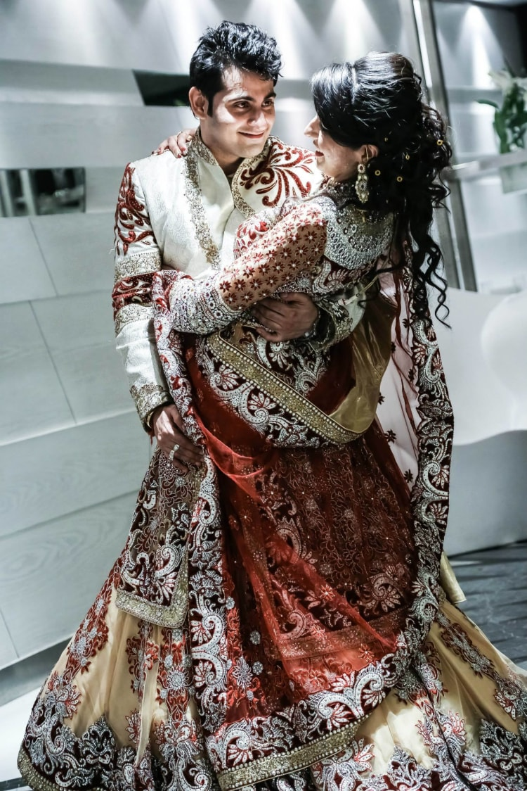 Bride And Groom In Matching Attires by Gitesh Dhawan Wedding-photography | Weddings Photos & Ideas