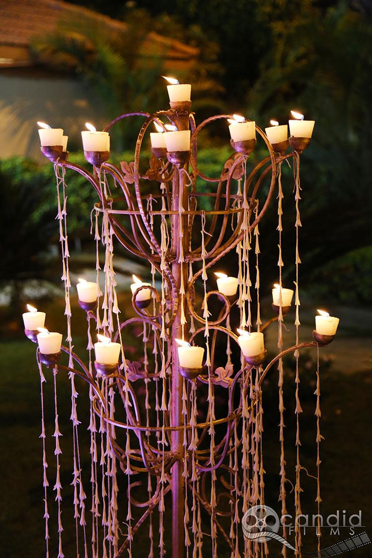 Candel decor by Candid Films Wedding-decor   Weddings Photos & Ideas