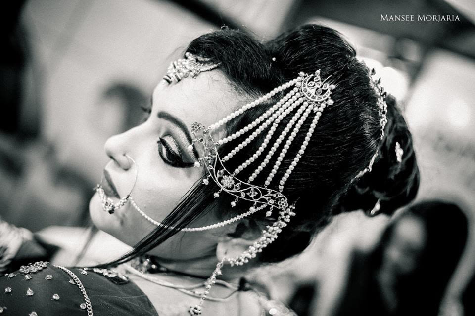 Black and white shades of bride by Capture Memories Wedding-photography | Weddings Photos & Ideas