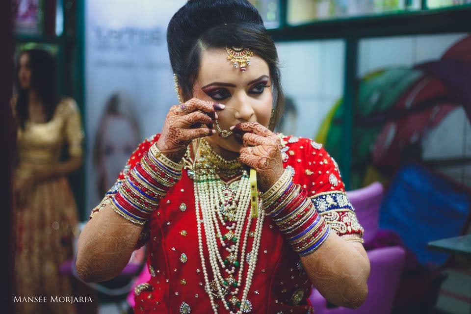 Getting ready shot by Capture Memories Wedding-photography | Weddings Photos & Ideas