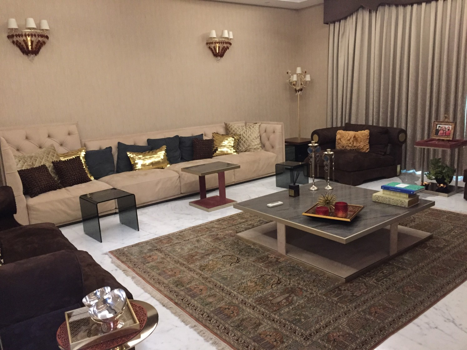 Traditional Living Room With Sectional Sofa by Tarique Anwar Living-room Traditional | Interior Design Photos & Ideas