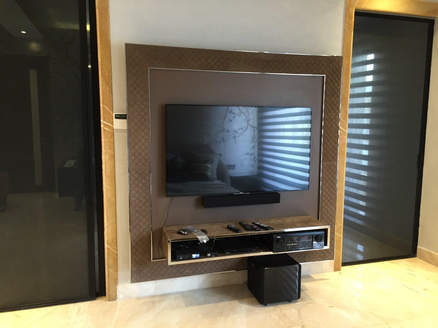 Wall Mounted TV Cabinet by Tarique Anwar Living-room Contemporary | Interior Design Photos & Ideas