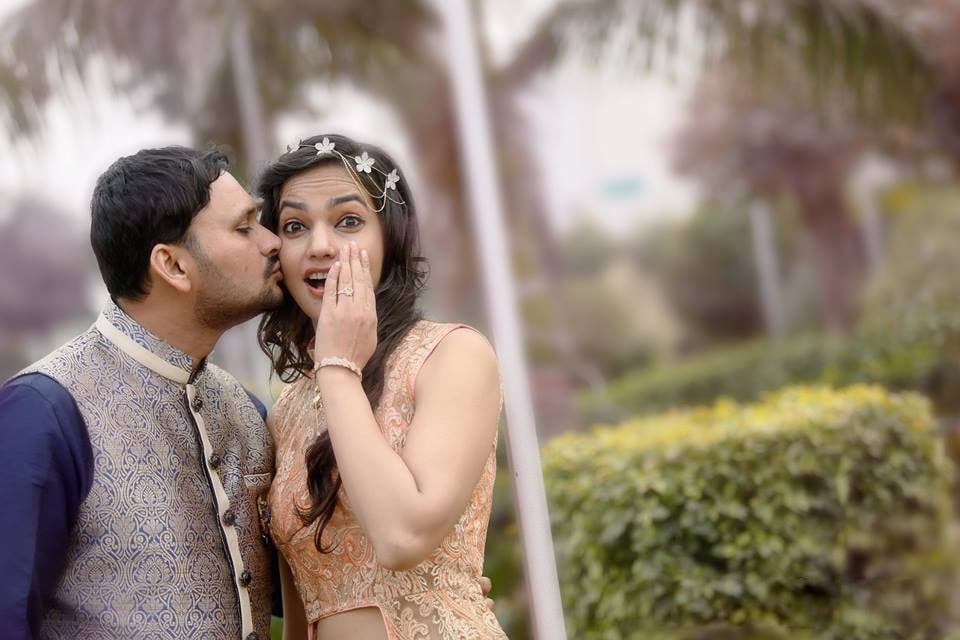Unexpected peck by DEV RAJ FILMS & PHOTOGRAPHY Wedding-photography | Weddings Photos & Ideas