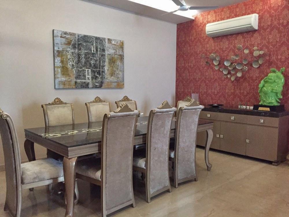 A regal dining area! by Nikita Dining-room Contemporary | Interior Design Photos & Ideas