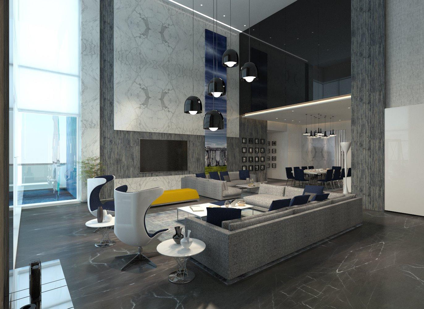 A stunning living room! by Interior Designer, Design Consultant  Living-room Contemporary | Interior Design Photos & Ideas