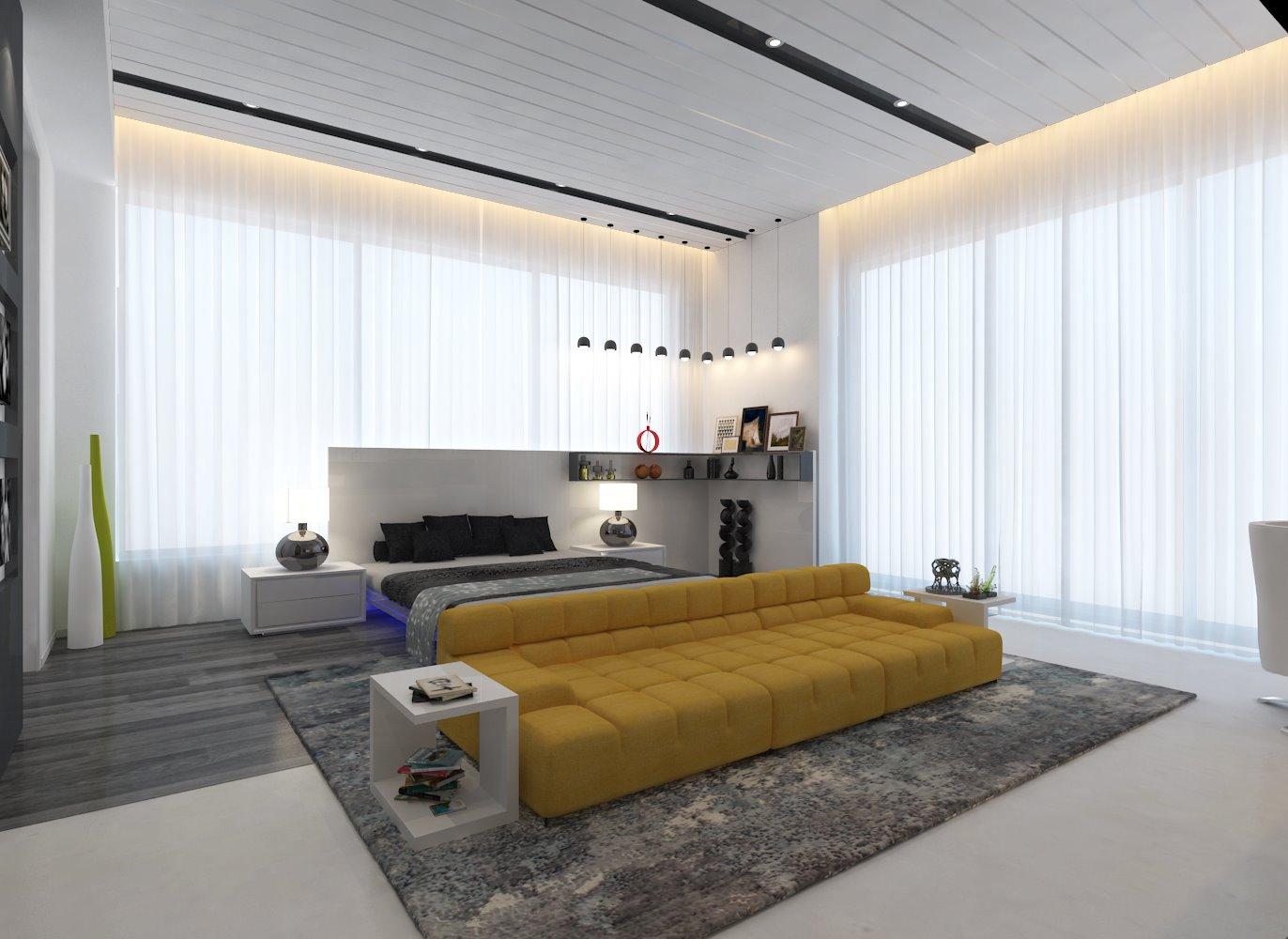 A contemporary bedroom! by Interior Designer, Design Consultant  Bedroom Contemporary | Interior Design Photos & Ideas