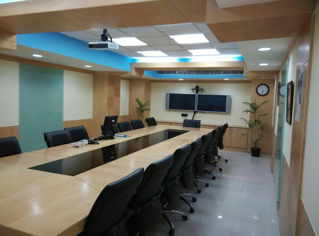 Minimalistic Conference Room by Ghar Ek Sapna