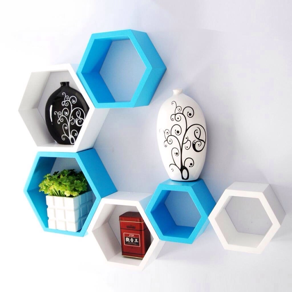 Hexagonal Wall Decor by Sridhar Mahankali Living-room Contemporary | Interior Design Photos & Ideas