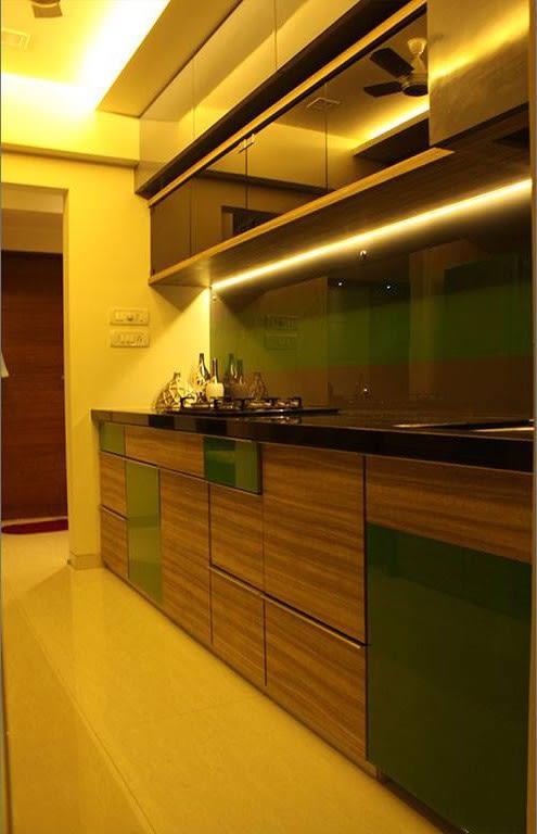 Parallel Kitchen With Wooden Cabinets by Sridhar Mahankali Modular-kitchen Modern | Interior Design Photos & Ideas