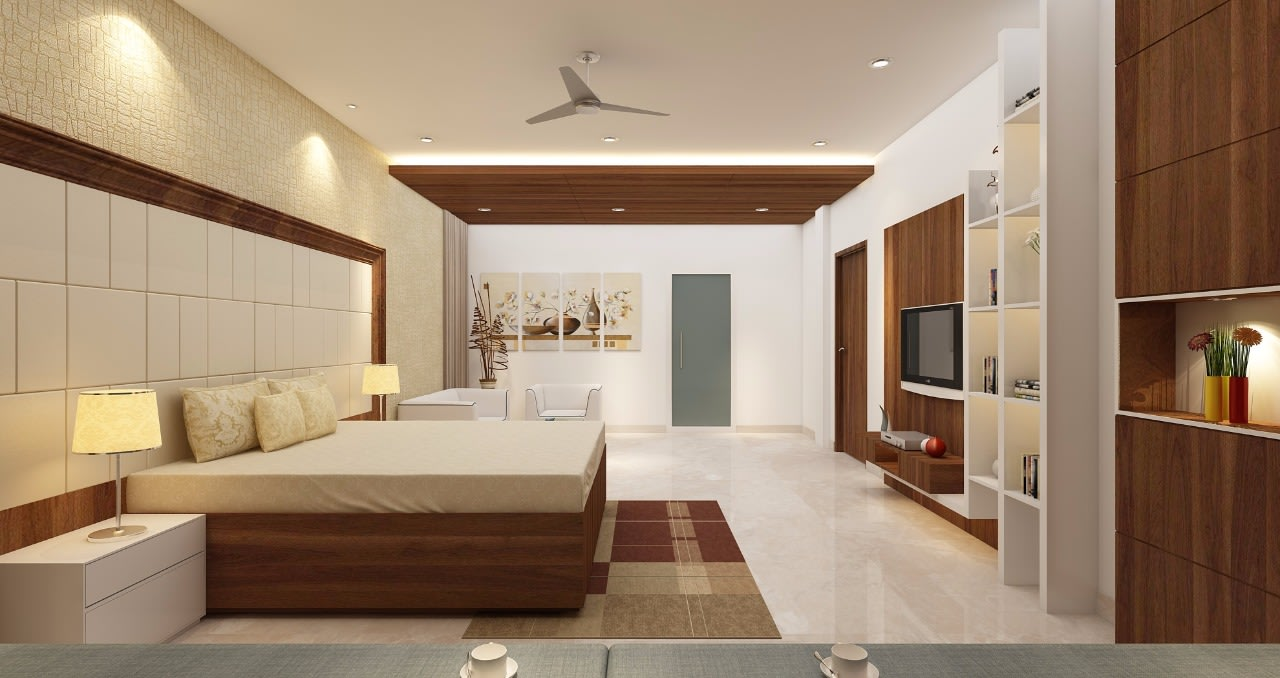 A modern bedroom! by Mohammad Riyaz Bedroom Modern | Interior Design Photos & Ideas