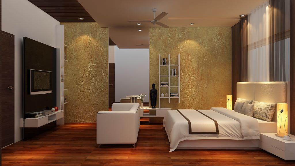 A modern living room! by Mohammad Riyaz Bedroom Modern | Interior Design Photos & Ideas